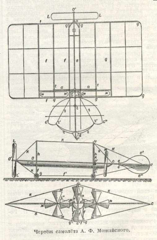 Fig. #C2: Design plans for Mo�ajski aeroplane
