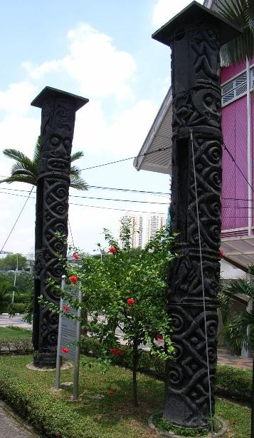 Fig. #D2. Totem poles from Borneo